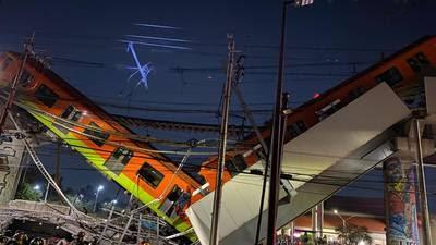 La noche del lunes colapsó la Línea 12 del metro en la CDMX